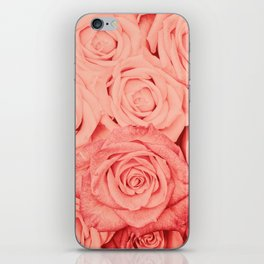 Some People Grumble - Living Coral Roses iPhone Skin