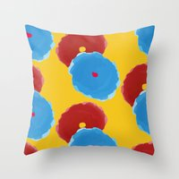 lindsay lohan Throw Pillows featuring Lindsay by Anh-Valérie