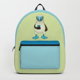 Blue-footed Booby with Phone Backpack