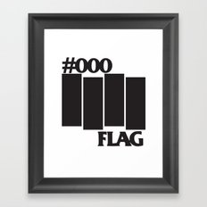 #000 Flag Framed Art Print