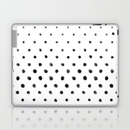 Dottie - black on white Laptop & iPad Skin