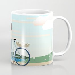 walking through a scenic meadow Coffee Mug