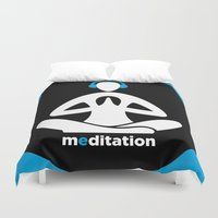 meditation Duvet Covers featuring Meditation by Urban Monk Store