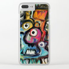 The king in the morning Street Art Graffiti Clear iPhone Case
