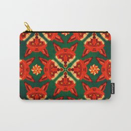 Fox Cross geometric pattern Carry-All Pouch