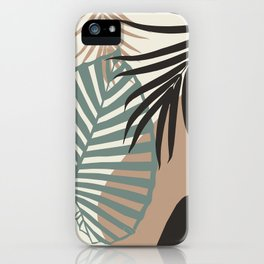 Minimal Jungle Leaves Finesse #1 #tropical #decor #art #society6 iPhone Case
