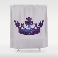 crown Shower Curtains featuring SPACE CROWN by Caio Trindade