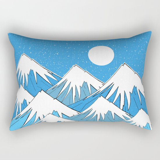 Winter Blues Rectangular Pillow