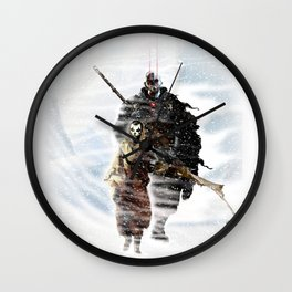 Cold world- Whiteout Wall Clock