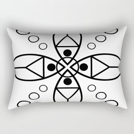 Ancient Religious Symbols Rectangular Pillow
