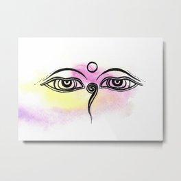 Buddha eyes of Nepal Metal Print