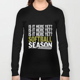 SOFTBALL SEASON game t-shirts Long Sleeve T-shirt