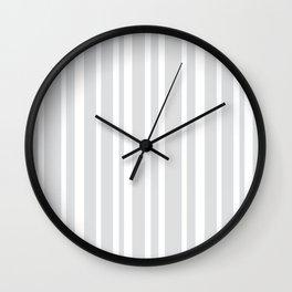 Grey Stripe Pattern   Modern Design   Minimalism   Gray Wall Clock