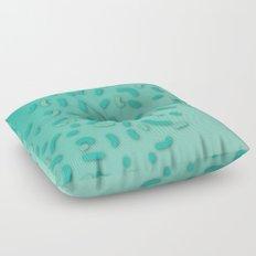 Aqua Donut Sprinkles Floor Pillow