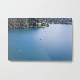 Lake Love Metal Print