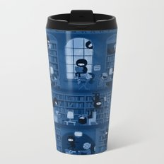 Silence in the Library Metal Travel Mug