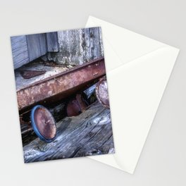 Left and Forgotten a little red wagon Stationery Cards