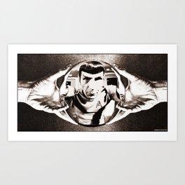 Escher Inspired Spock (Star Trek) Art Print