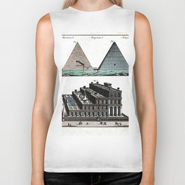 Pyramids and Floating (Suspended) Gardens of Babylon Biker Tank