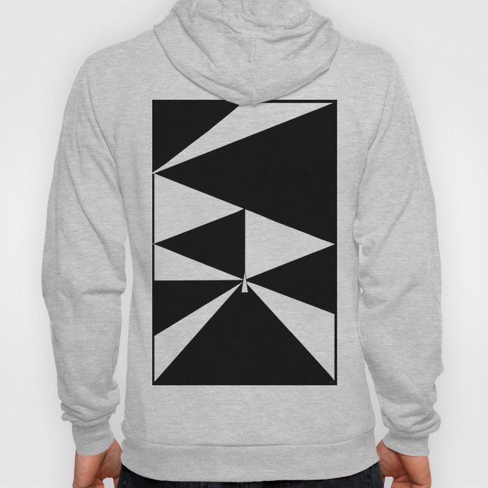 Triangles in Black and White Hoody
