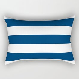 Cool black - solid color - white stripes pattern Rectangular Pillow