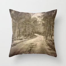 The way to the forest Throw Pillow