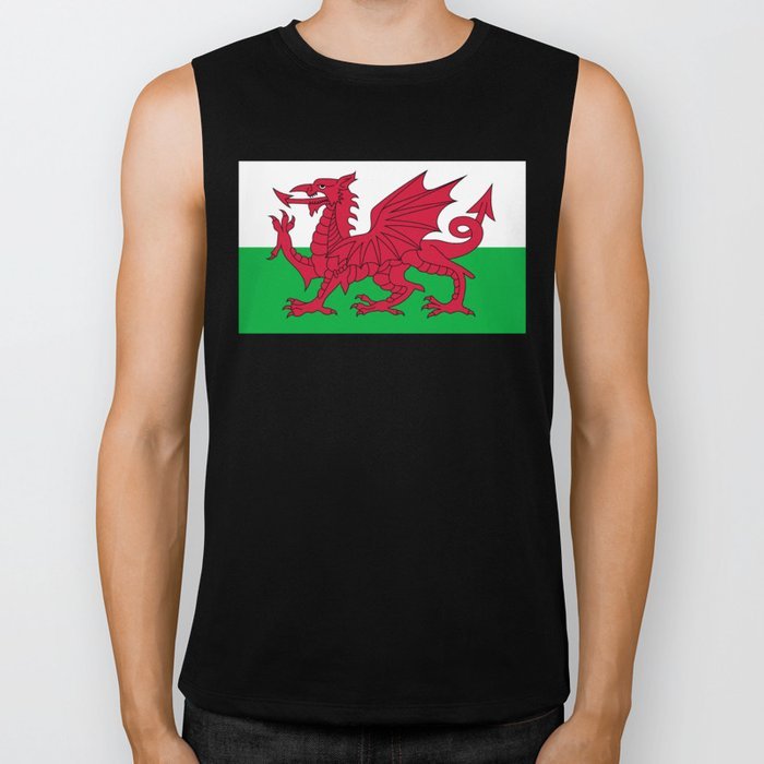 National flag of Wales - Authentic version Biker Tank