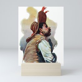 Vintage Sancho Panza Don Quixote Mini Art Print
