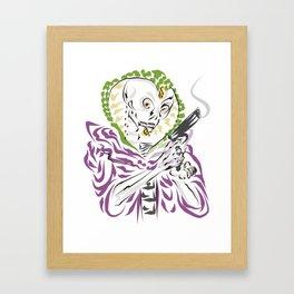 Dia de los Muertos Serpent Kingpin Framed Art Print