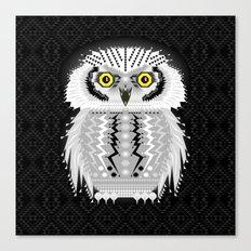 Geometric Snowy Owl Canvas Print