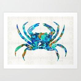 Blue Crab Art by Sharon Cummings Art Print