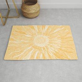 Mandala, Sunflower Prints, Yellow Rug