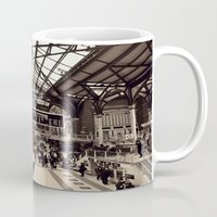liverpool Mugs featuring Liverpool Station by Roxana Lazăr