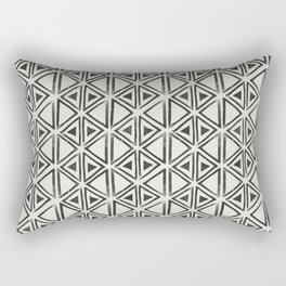 Block Print Diamond Rectangular Pillow