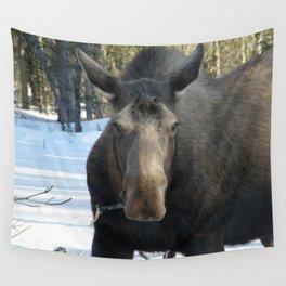 Moose Munching Poplar Lunch Wall Tapestry