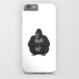 My Gorilla Ate My Homework Ape Back To School iPhone Case