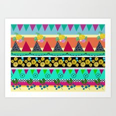 Graphical-Floral pattern Art Print