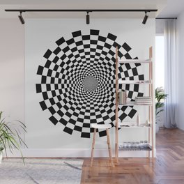 UV Sphere Top Illusion Black and White Wall Mural