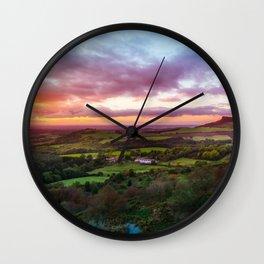Sun Down Wall Clock