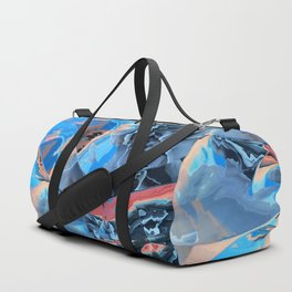 The edge of blue mystery Duffle Bag