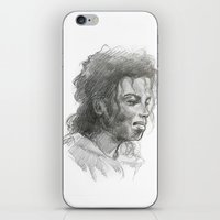 mike wrobel iPhone & iPod Skins featuring Mike by QIQI DRAWS