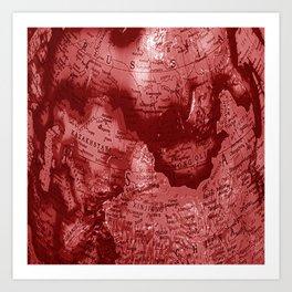Russia in Red Art Print
