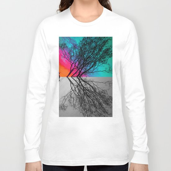 Behind The ol' Crape Myrtle Long Sleeve T-shirt