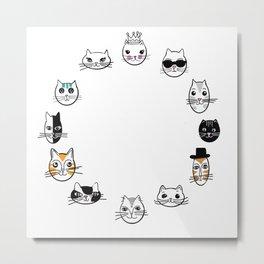 kitty cats Metal Print