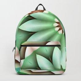 Green in Dimension Flower Kaleidoscope Backpack