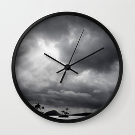 Storm Over Maunalua Bay Wall Clock