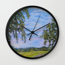 Moments In Time, Impressionism Landscape Wall Clock