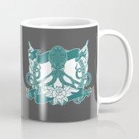 kraken Mugs featuring KRAKEN by Norm Morales Originals
