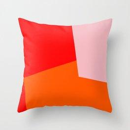 red orange pink Throw Pillow