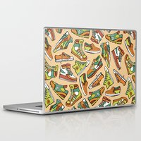 sneaker Laptop & iPad Skins featuring Sneaker Lover in Orange by Artwork by Brie